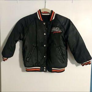 Harley Davidson Reversible Wool/Pleather Jacket